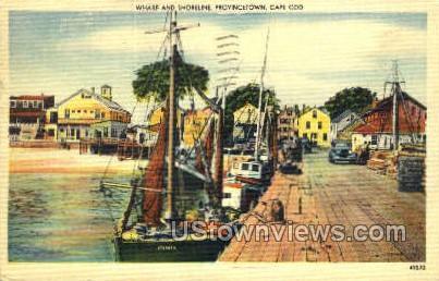 Wharf & Shoreline - Provincetown, Massachusetts MA Postcard