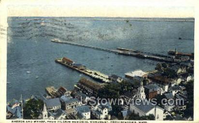 Harbor & Wharf - Provincetown, Massachusetts MA Postcard