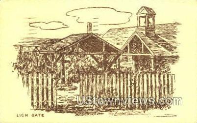 Lich Gate - Provincetown, Massachusetts MA Postcard
