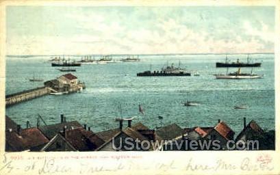 U.S. Battleships - Provincetown, Massachusetts MA Postcard