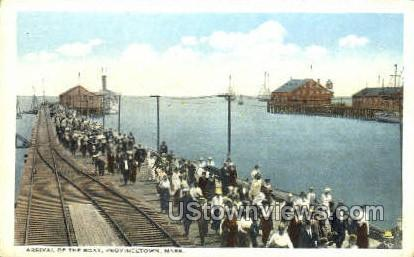 Arrival of the Boat - Provincetown, Massachusetts MA Postcard