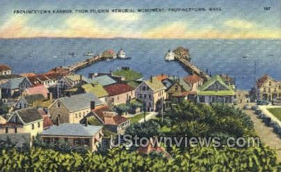 Provincetown Harbor - Massachusetts MA Postcard