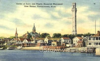 Center of Town - Provincetown, Massachusetts MA Postcard