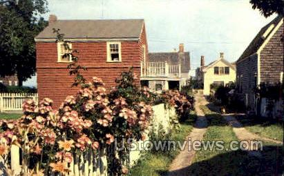 Rose Covered Fence - Provincetown, Massachusetts MA Postcard