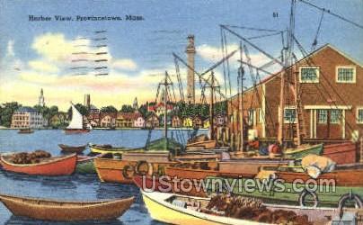 Harbor - Provincetown, Massachusetts MA Postcard