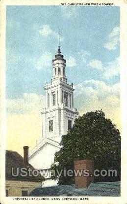 Universalist Church - Provincetown, Massachusetts MA Postcard