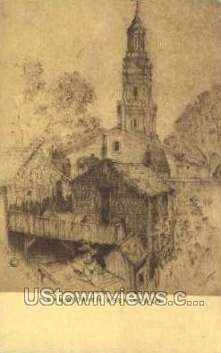 Christopher Wren Tower - Provincetown, Massachusetts MA Postcard