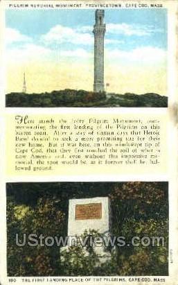 First Landing Place of Pilgrims - Provincetown, Massachusetts MA Postcard