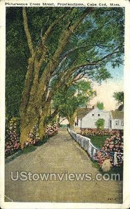 Cross St. - Provincetown, Massachusetts MA Postcard