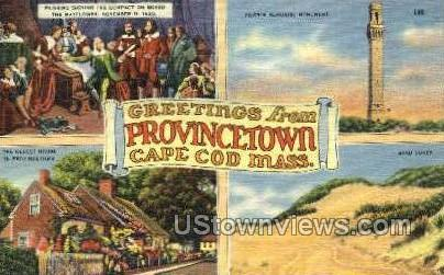 Greetings From - Provincetown, Massachusetts MA Postcard