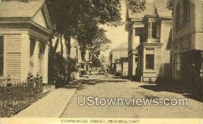 Commercial St. - Provincetown, Massachusetts MA Postcard