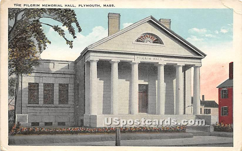 The Pilgrim Memorial Hall - Plymouth, Massachusetts MA Postcard
