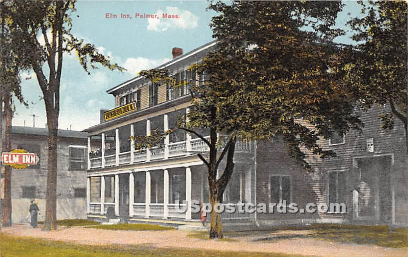 Elm Inn - Palmer, Massachusetts MA Postcard
