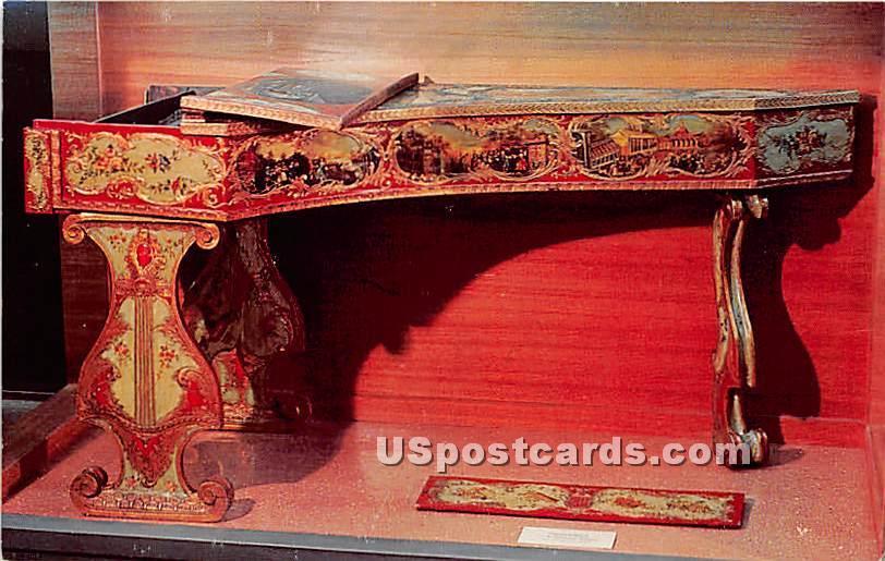 Harpsichord Berkshire Museum - Pittsfield, Massachusetts MA Postcard