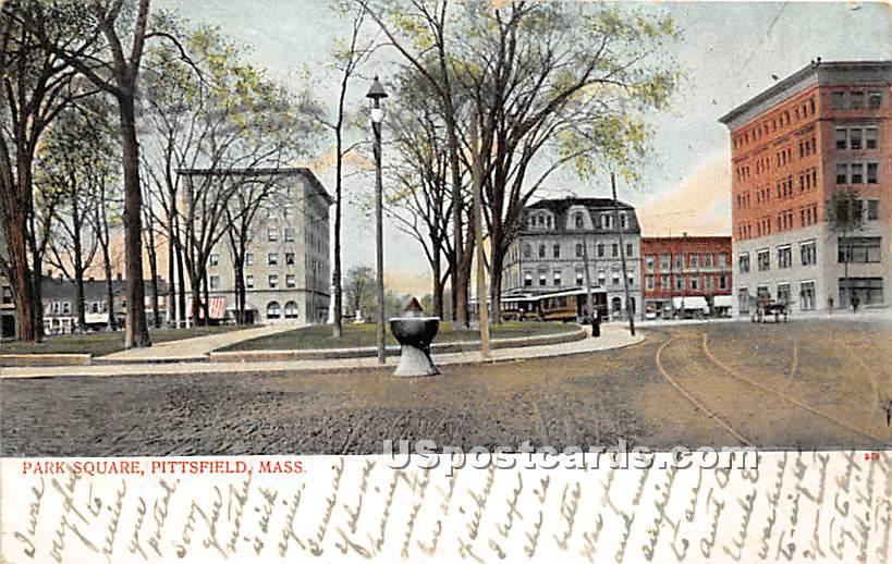 Park Square - Pittsfield, Massachusetts MA Postcard