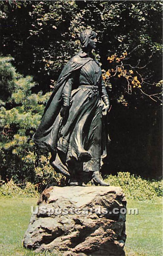 The Pilgrim Maiden - Plymouth, Massachusetts MA Postcard