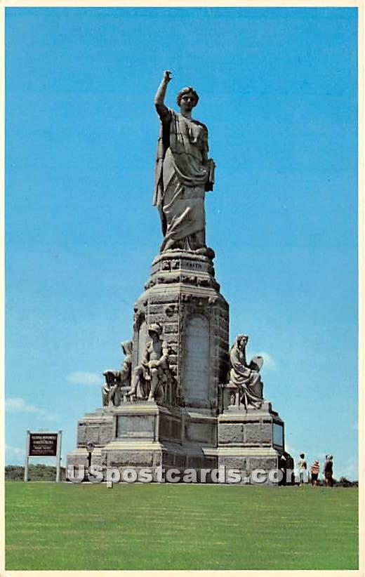 The National Monument to the Forefathers - Plymouth, Massachusetts MA Postcard