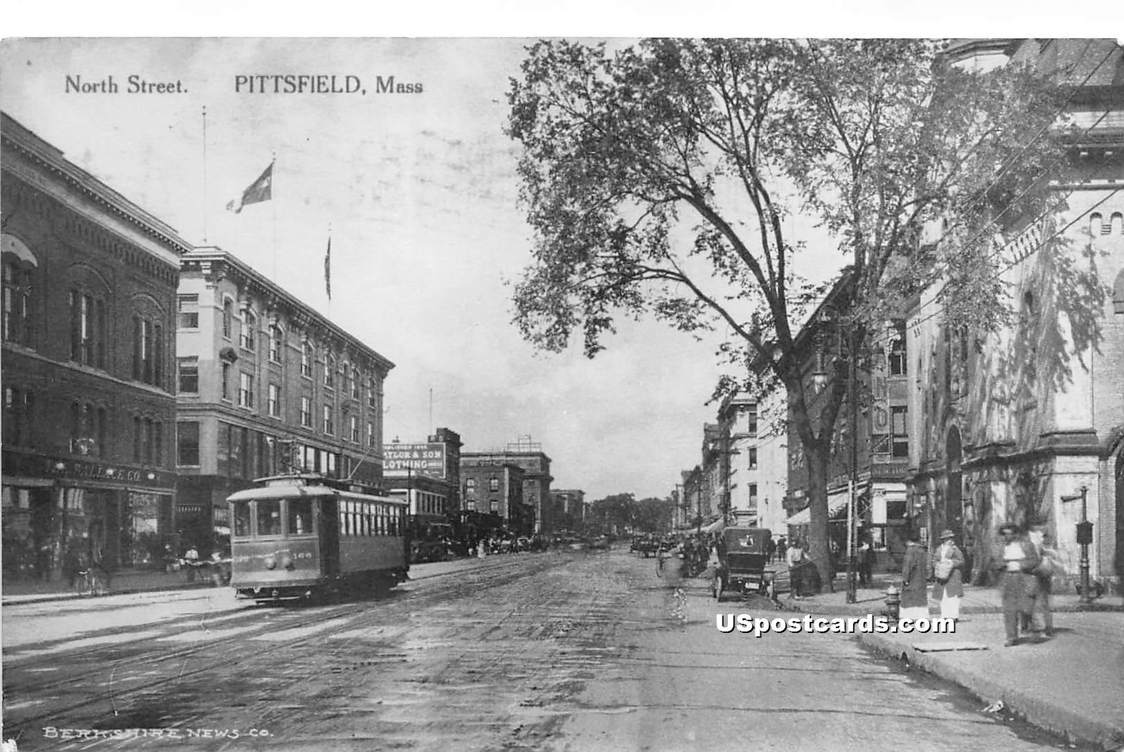 North Street - Pittsfield, Massachusetts MA Postcard