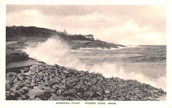 Andrews Point Pigeon Cove, Massachusetts Postcard
