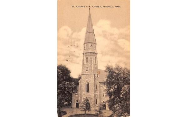 St. Joseph's R.C. Church Pittsfield, Massachusetts Postcard