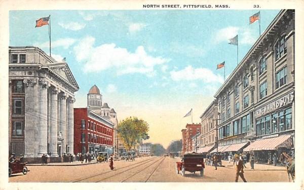 North Street Pittsfield, Massachusetts Postcard