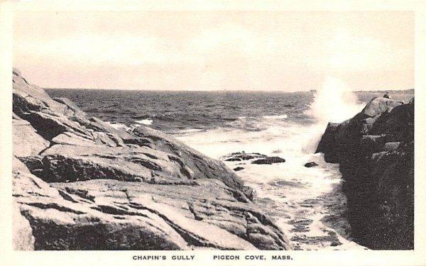 Chapin's Gully Pigeon Cove, Massachusetts Postcard