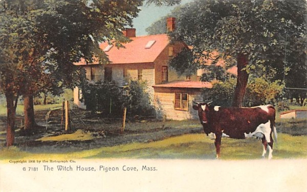 The Witch House Pigeon Cove, Massachusetts Postcard