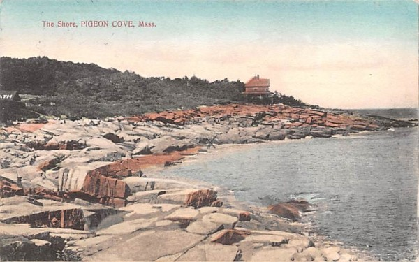 The Shore Pigeon Cove, Massachusetts Postcard