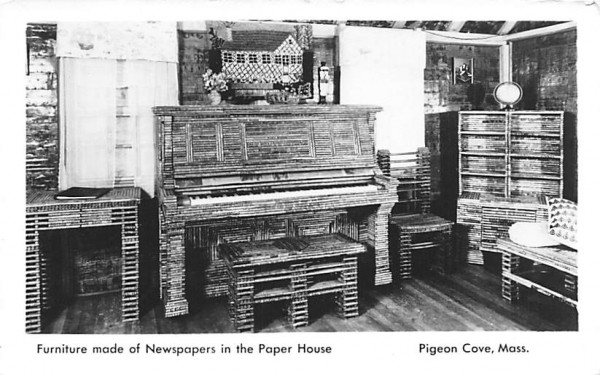 Furniture made of Newspaper Pigeon Cove, Massachusetts Postcard