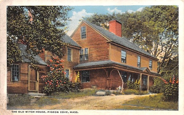 The Old Witch House Pigeon Cove, Massachusetts Postcard
