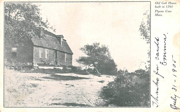 Old Gott House Pigeon Cove, Massachusetts Postcard