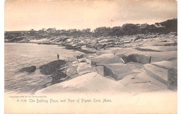 The Bathing Place Pigeon Cove, Massachusetts Postcard