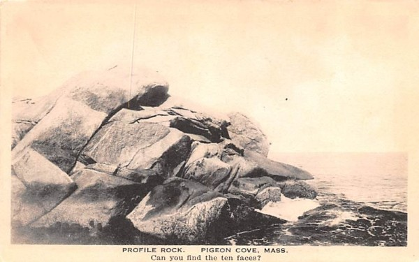 Profile Rock Pigeon Cove, Massachusetts Postcard
