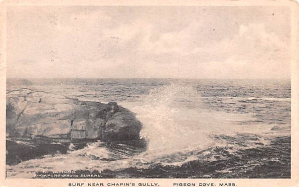 Surf Near Chapin's Gully Pigeon Cove, Massachusetts Postcard