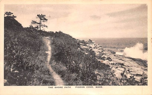 The Shore Path Pigeon Cove, Massachusetts Postcard