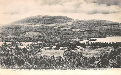 Lake Wachusett & Mt. Wachusett Princeton, Massachusetts Postcard
