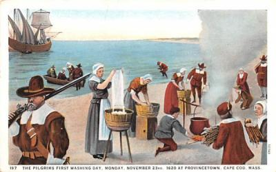 The Pilgrims First Washing Day Provincetown, Massachusetts Postcard