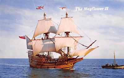 The Mayflower II Plymouth, Massachusetts Postcard
