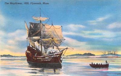 The Mayflower  Plymouth, Massachusetts Postcard