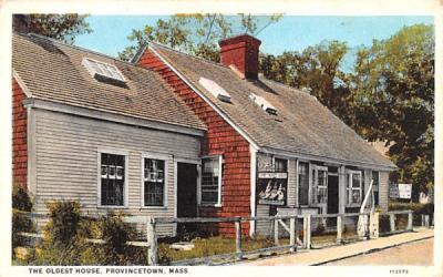 The Oldest House Provincetown, Massachusetts Postcard