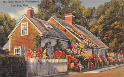 The Oldest House  Provincetown, Massachusetts Postcard