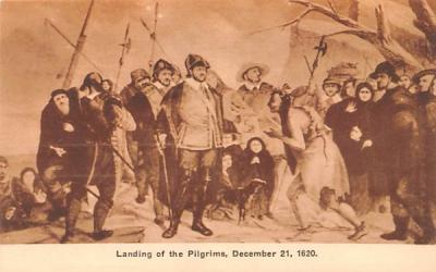 Landing of the Pilgrims Plymouth, Massachusetts Postcard