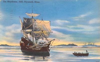 The Mayflower Plymouth, Massachusetts Postcard