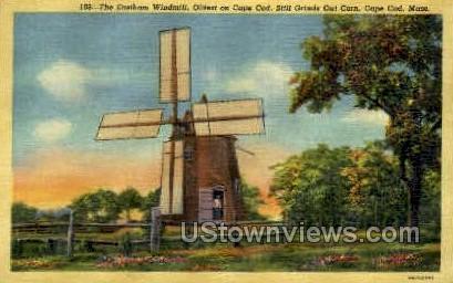 Eastham Windmill, Still Grinds Out Corn - Cape Cod, Massachusetts MA Postcard