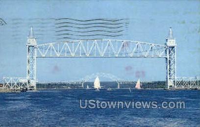 Railroad Bridge - Cape Cod, Massachusetts MA Postcard