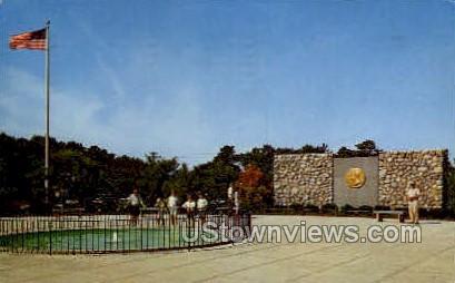 John F Kennedy Memorial Plaza - Cape Cod, Massachusetts MA Postcard