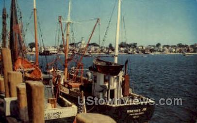 Provincetown Waterfront - Cape Cod, Massachusetts MA Postcard