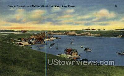 Oyster Houses - Cape Cod, Massachusetts MA Postcard