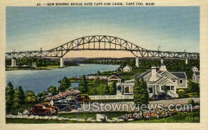New Bourne Bridge - Cape Cod, Massachusetts MA Postcard