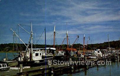 Fishing Boats, Wellfleet Harbor - Cape Cod, Massachusetts MA Postcard